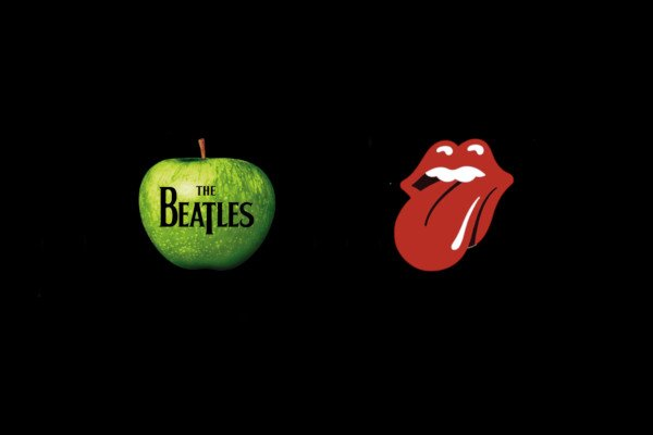 Logo the Beatles and the Rolling Stones