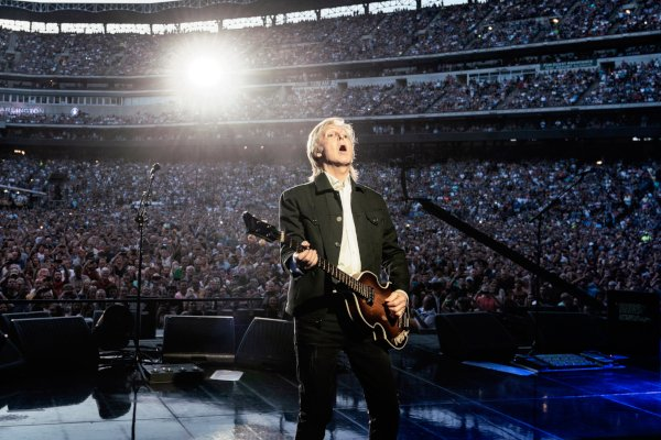 Paul McCartney performs at Globe Life Park in Arlington, Virginia on June 14, 2019. Because of restrictions in his photo contract the Southern California News Group did not shoot his concert at Dodger Stadium in Los Angeles on Saturday, July 13. ((Photo by M.J. Kim)