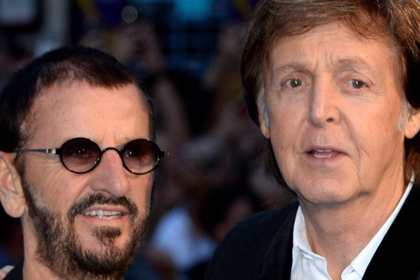 """LONDON, ENGLAND - SEPTEMBER 15: Ringo Starr and Paul McCartney attend the World premiere of """"The Beatles: Eight Days A Week - The Touring Years"""" at Odeon Leicester Square on September 15, 2016 in London, England. (Photo by Anthony Harvey)"""